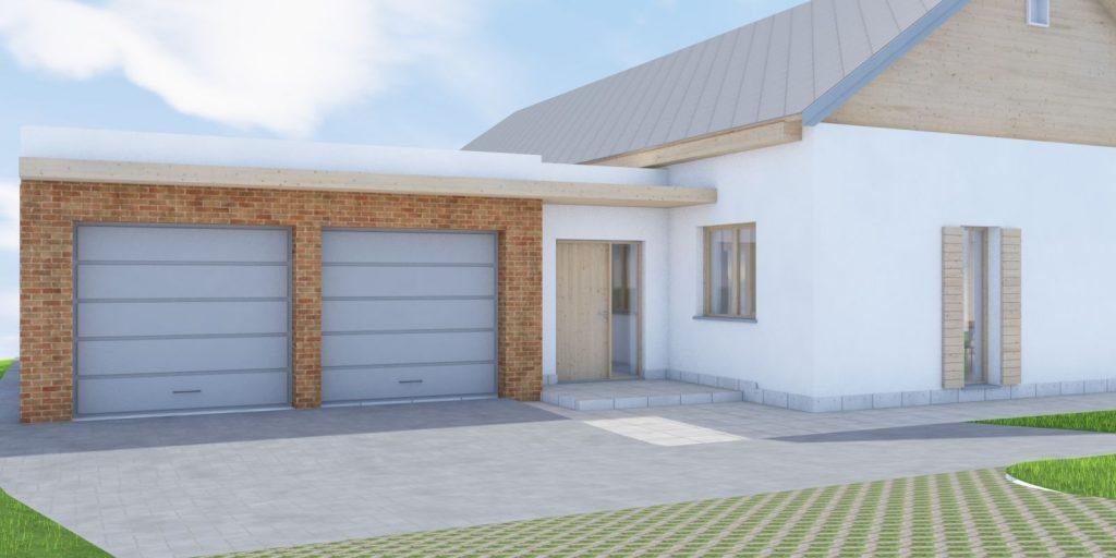 Projekt domu w Cieszynie widok wejścia