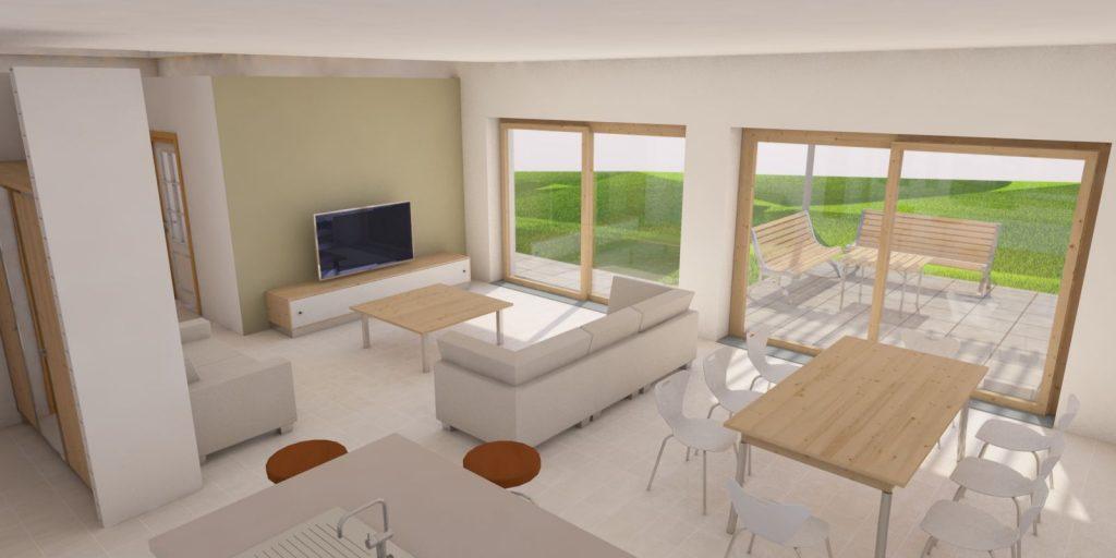Projekt domu w Cieszynie widok wnętrza