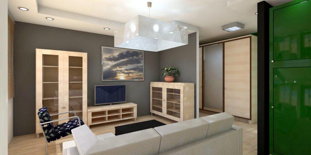 widok części dziennej projekt wnętrz mieszkania