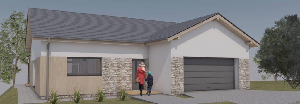 Projekt domu Jastrzębie Zdrój widok od strony wejściowej