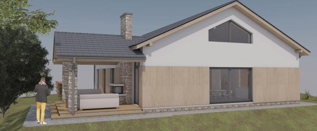 Projekt domu Jastrzębie Zdrój-widok z zewnątz
