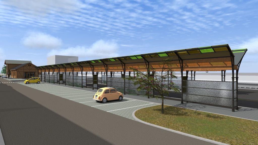 Projekt węzła przesiadkowego widok peronów